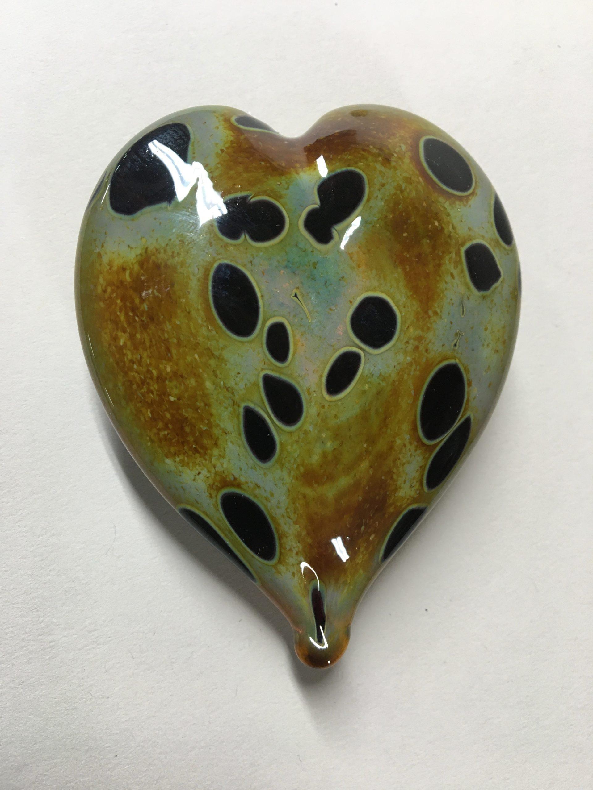 Heart of Glass leopard earthtone