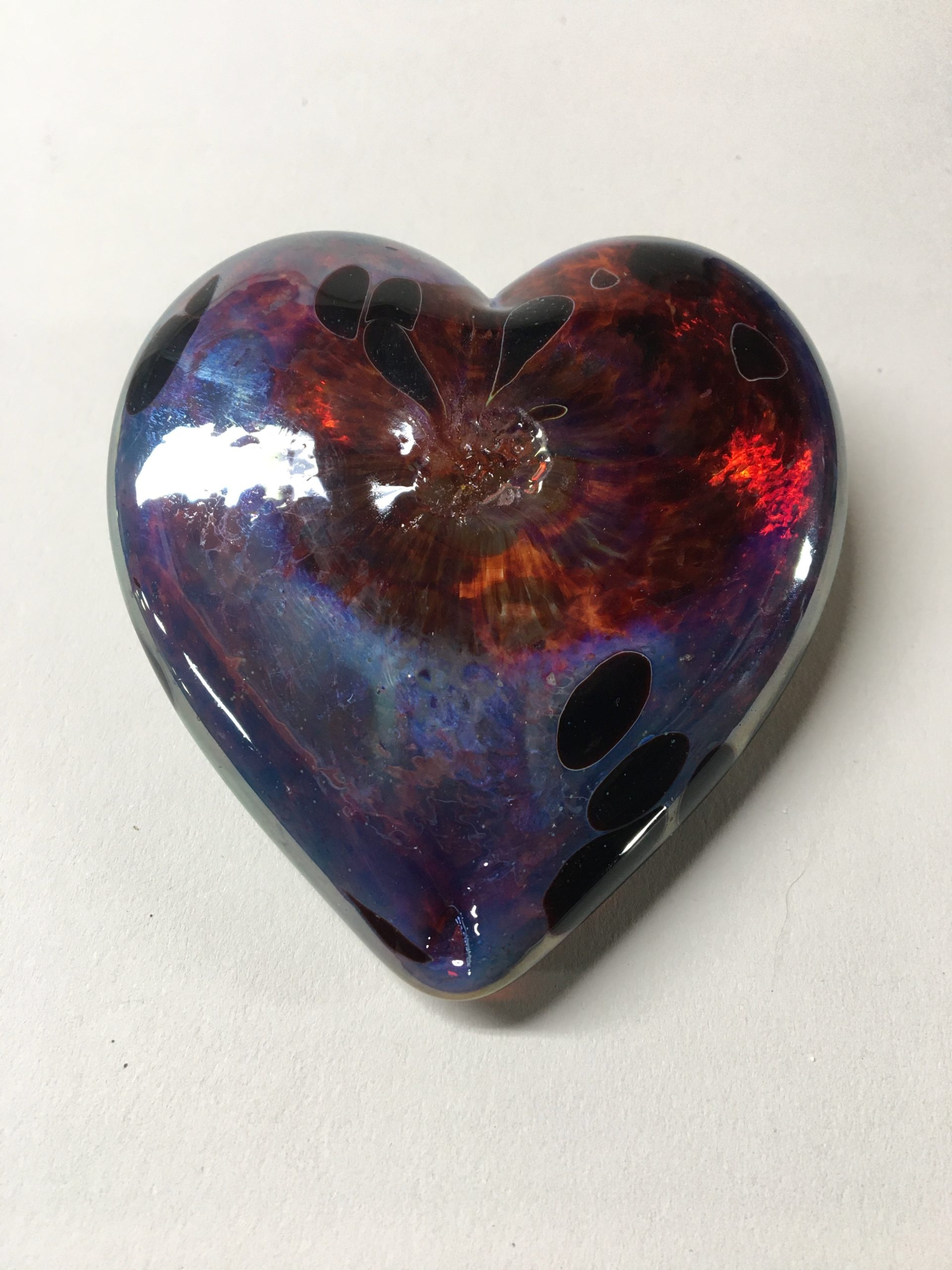 Heart of Glass red / blue