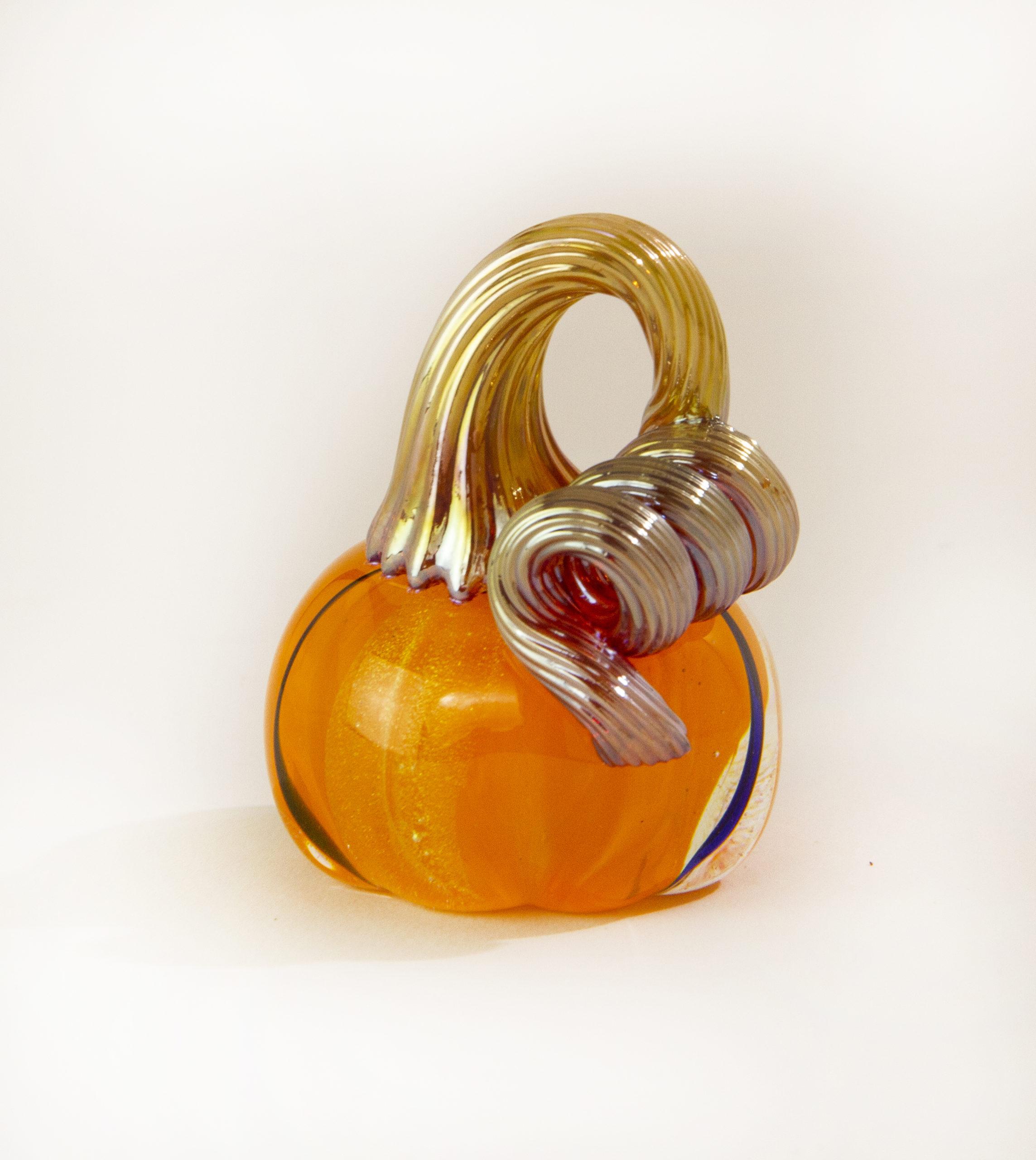 Mini Orange with Gold stem Pumpkin